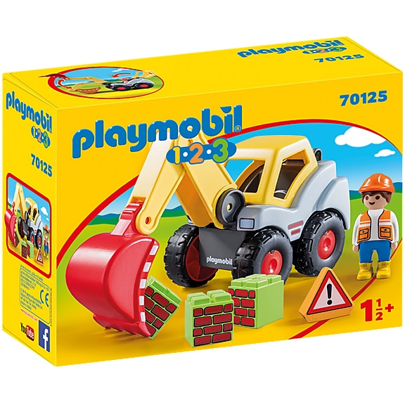 Fotografie Playmobil 1.2.3 - Excavator cu brat mobil