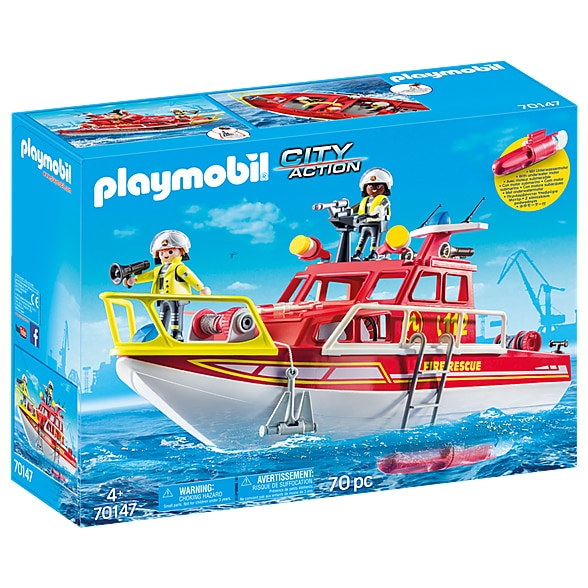 Fotografie Playmobil City Action, Fire Department - Barca de salvare a pompierilor