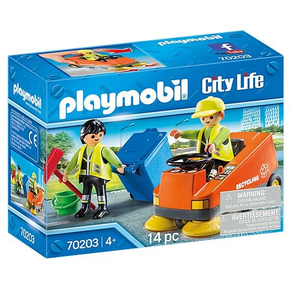 Fotografie Playmobil City Life, Vehicles - Agenti de salubritate cu vehicul