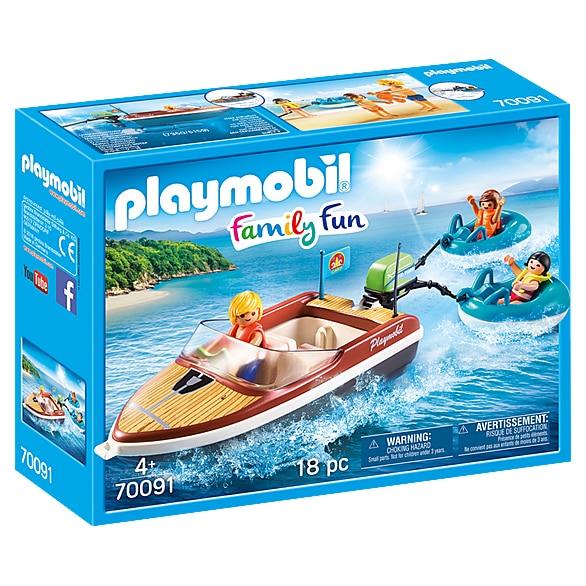 Fotografie Playmobil Family Fun, Camping - Barca cu motor