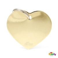 Медальон Big Golden Heart My Family, L