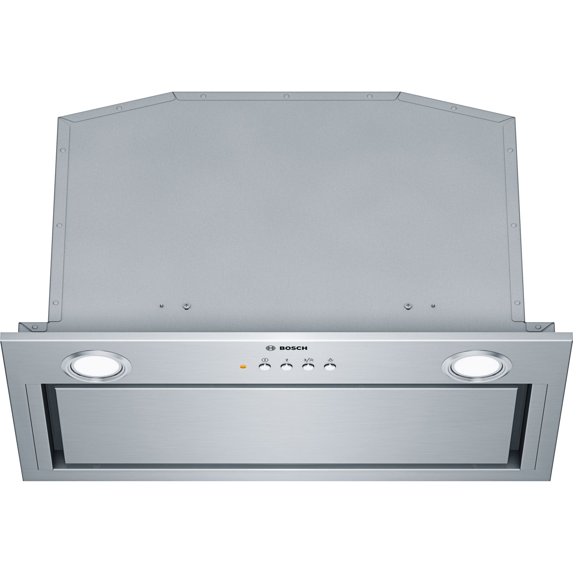 Fotografie Hota incorporabila Bosch DHL585B, Putere de absorbtie 575 mc/h, 52 cm, Argintiu