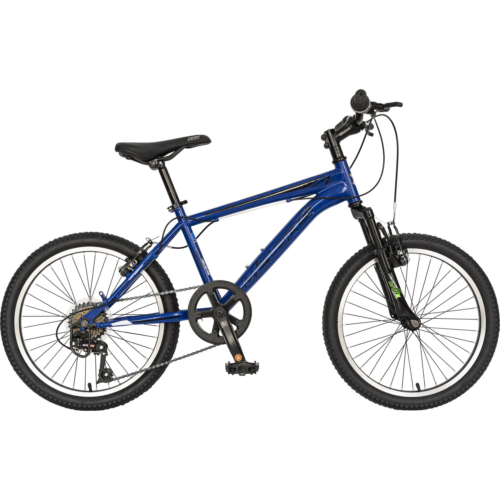 "Fotografie Bicicleta MTB 20"" Velors pentru copii V2010A, Albastru/Negru"
