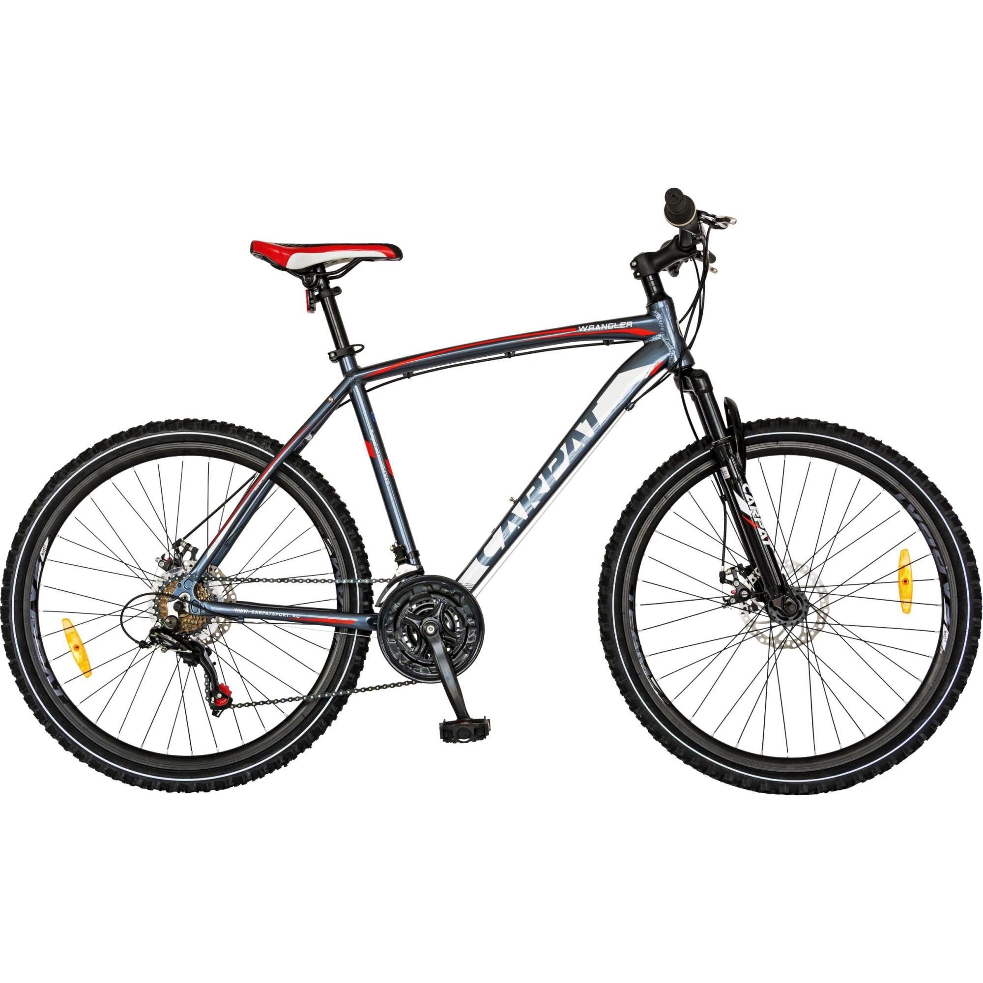 "Fotografie Bicicleta MTB 26"" Carpat Wrangler C2655B M, Negru/Rosu"