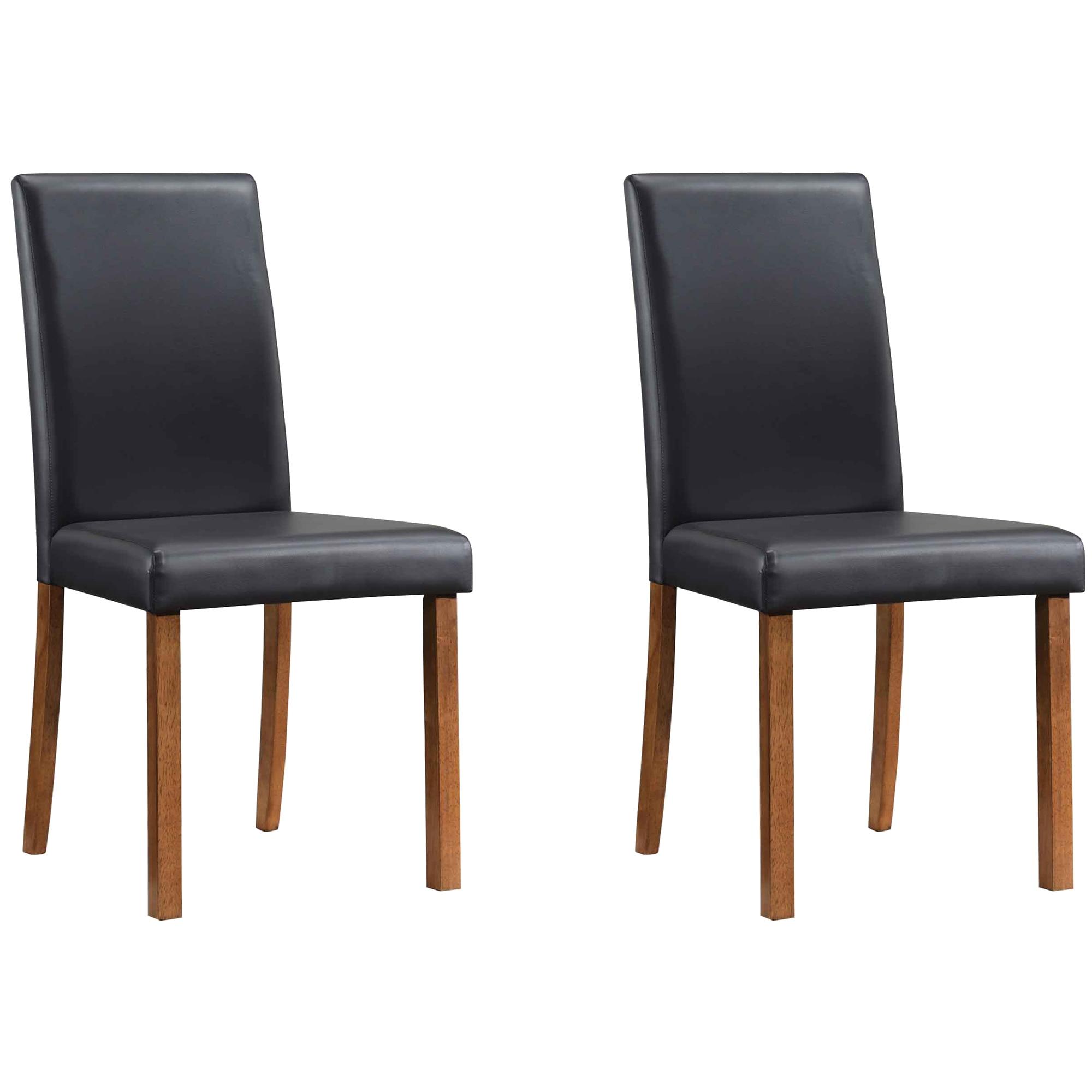Fotografie Set 2 scaune dining Kring Minimal, 44.5x57.5x91.5 cm, Negru
