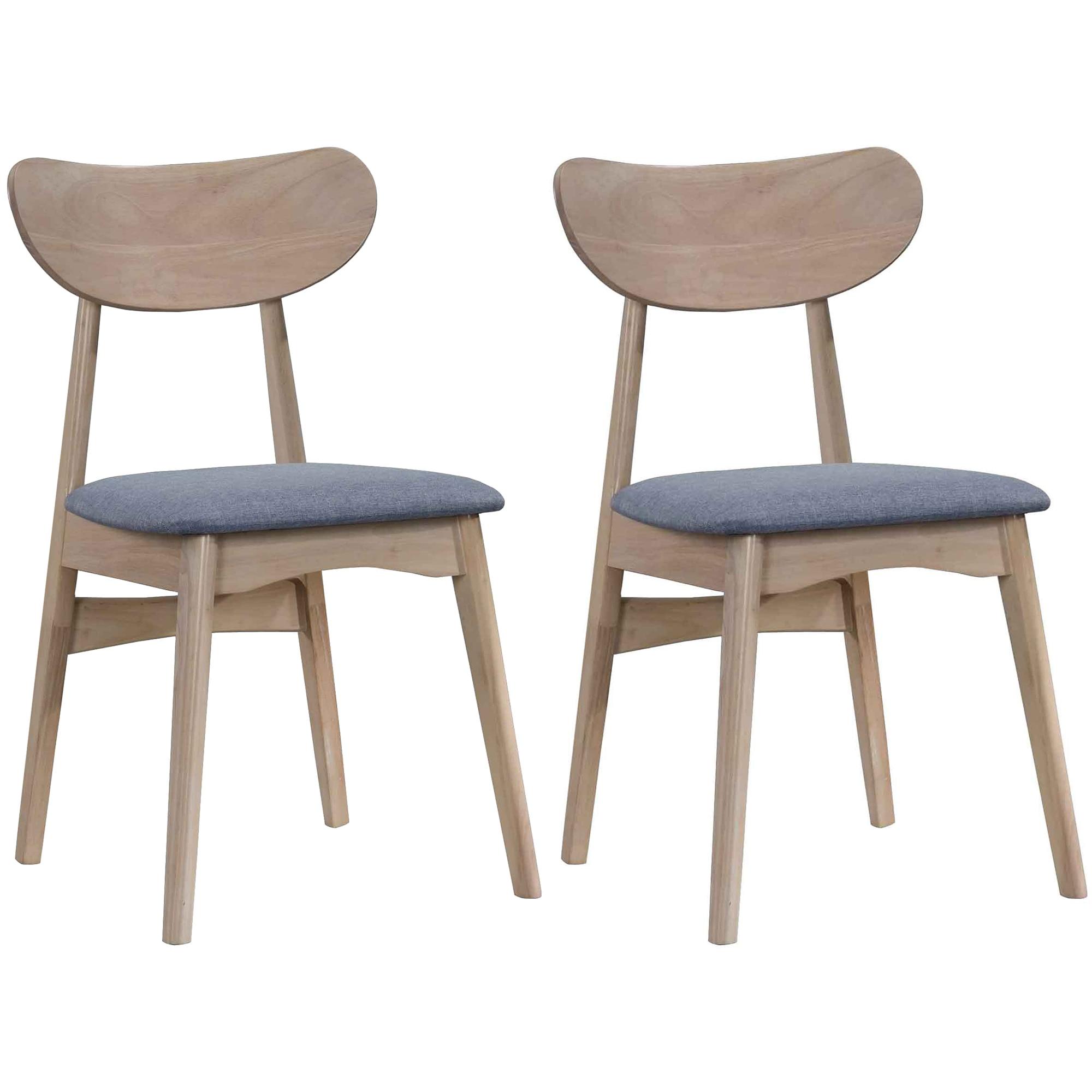 Fotografie Set 2 scaune dining Kring Mod, 46x54x80 cm, Gri