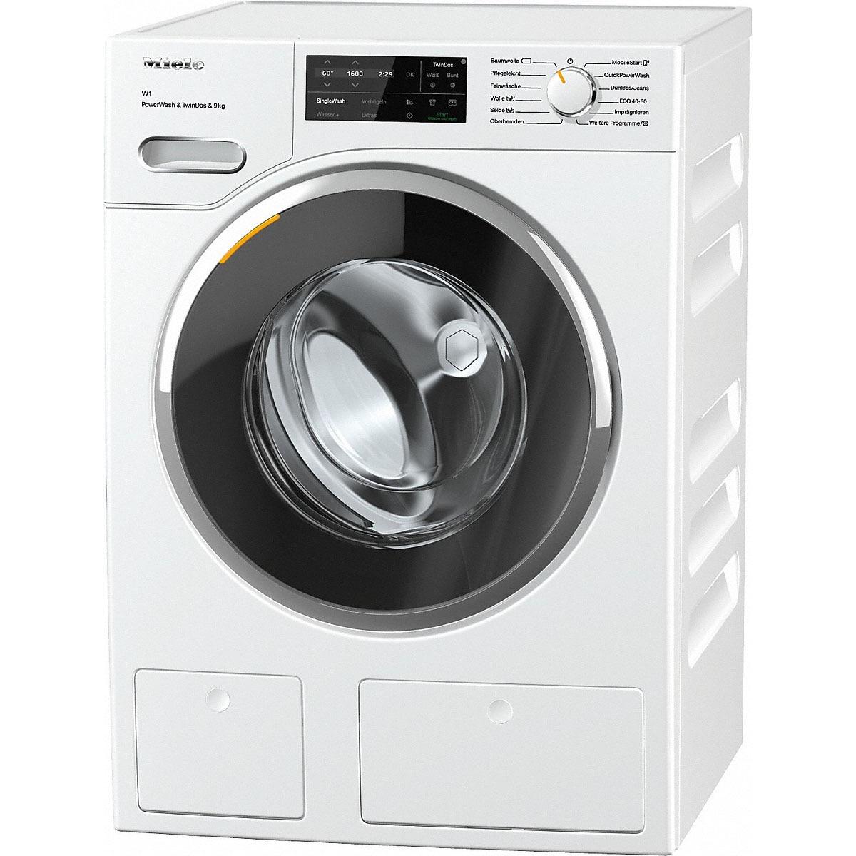 Fotografie Masina de spalat rufe Miele WWI 860 WPS, 9kg, 1600 rpm, Clasa A, QuickPowerWash & TwinDos, CapDosing, WiFiConn@ct, Alb
