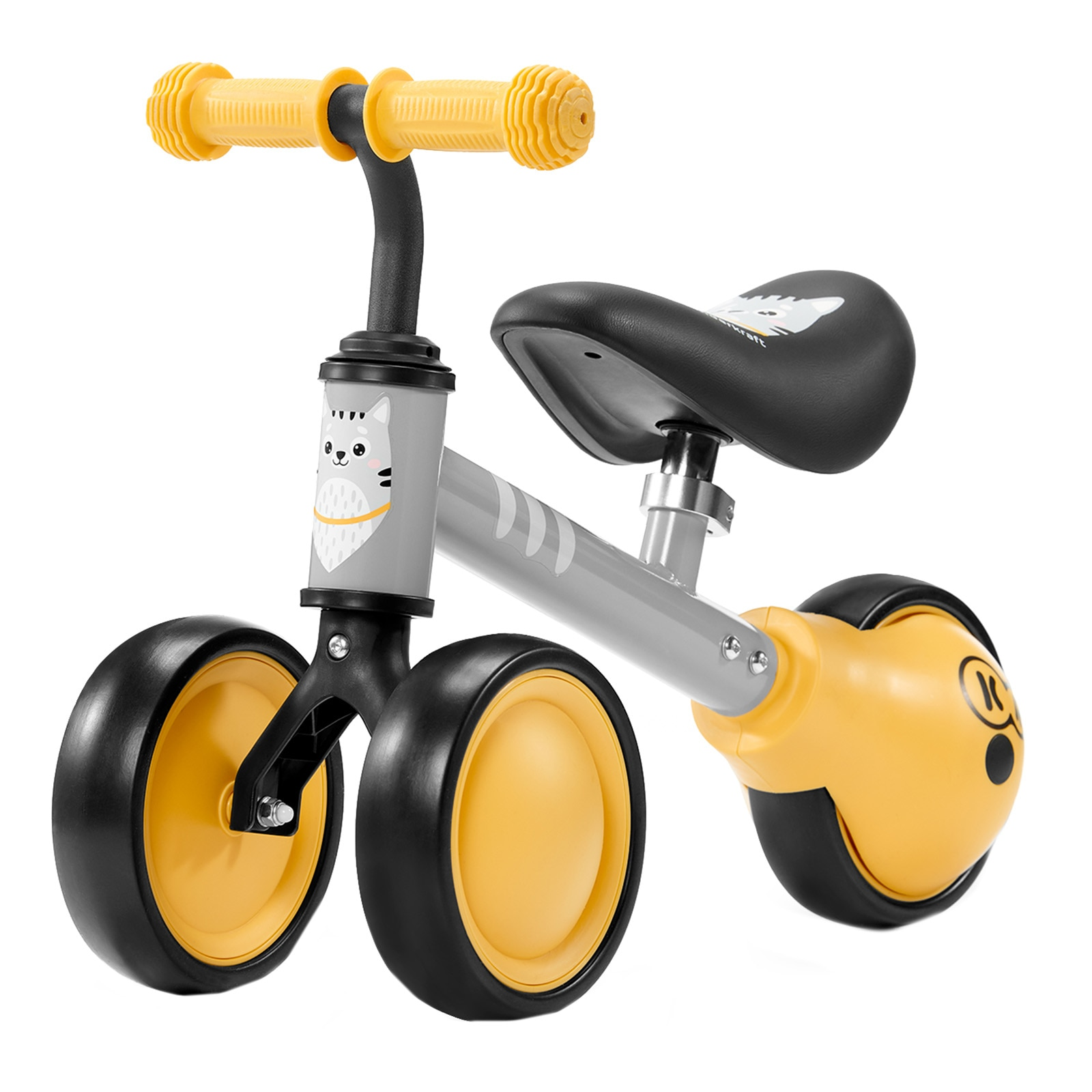 Fotografie Bicicleta fara pedale Kinderkraft - Cutie, galben