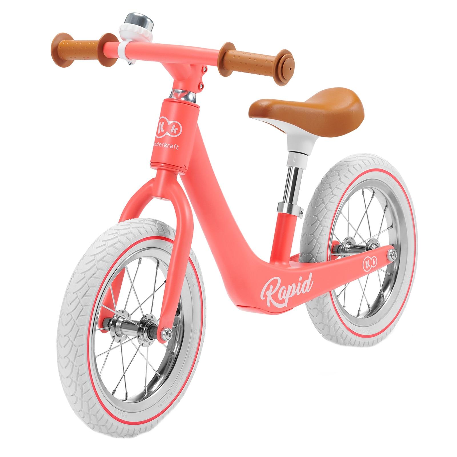 Fotografie Bicicleta fara pedale Kinderkraft - Rapid, roz