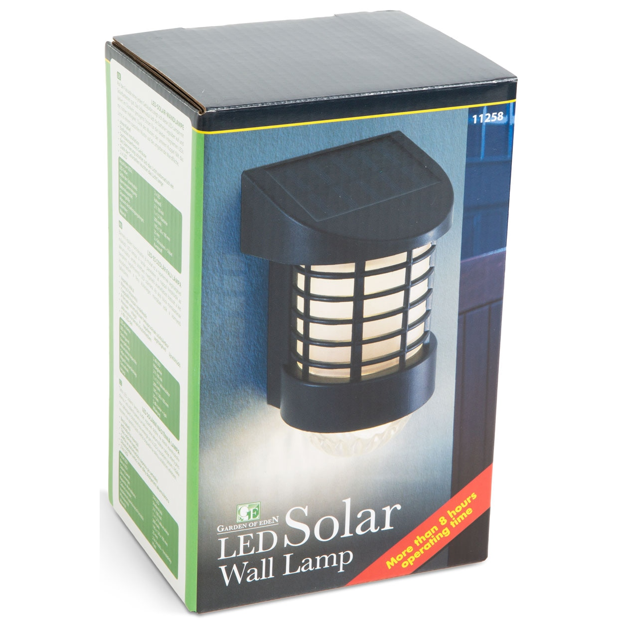 Fotografie Lampa solara LED de exterior pentru perete Garden of Eden, senzor crepuscular, acumulator 200 mAh, Negru