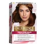 Перманентна боя за коса с амоняк L'Oreal Paris Excellence Creme 4.54, Mahon Inchis Aramiu, 192 мл