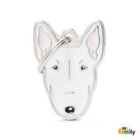 Медальон White Bull Terrier My Family, M