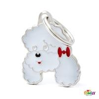 Медальон White Poodle My Family, M