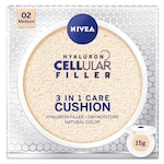 Оцветяващ крем Nivea Hyaluron Cellular Filler 3-in-1 Care Cushion 02 Medium, 15 гр