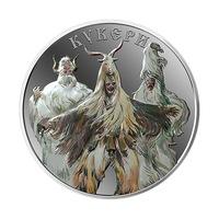 """Сребърен медал """"Кукери"""" Bulmint, 31.1г"""