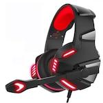 Casti Gaming HunterSpider V3 Pro, Surround Sound 7.1, Super Deep Bass, Lumina LED, Pentru PC / XBOX / PS , Microfon Noise Cancelling, Zero Ear Pressure, Control Volum, Insertie Metal, Protectie ureche din piele, Multi Platform , Rosu