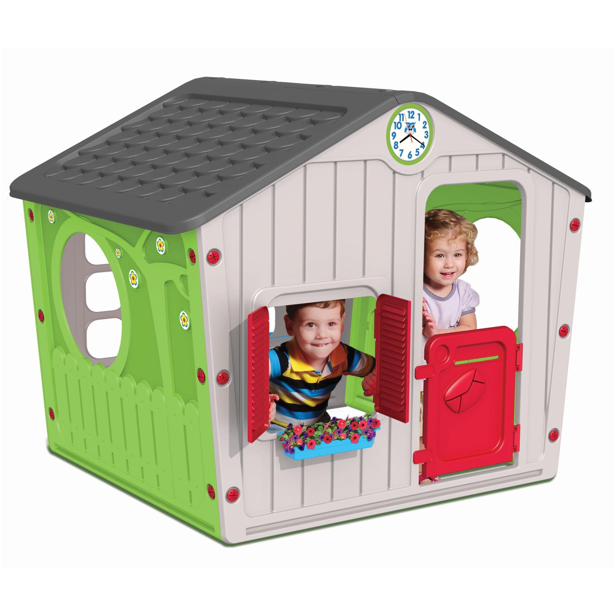 Fotografie Casuta de joaca pentru copii M-Toys Farm, verde/gri