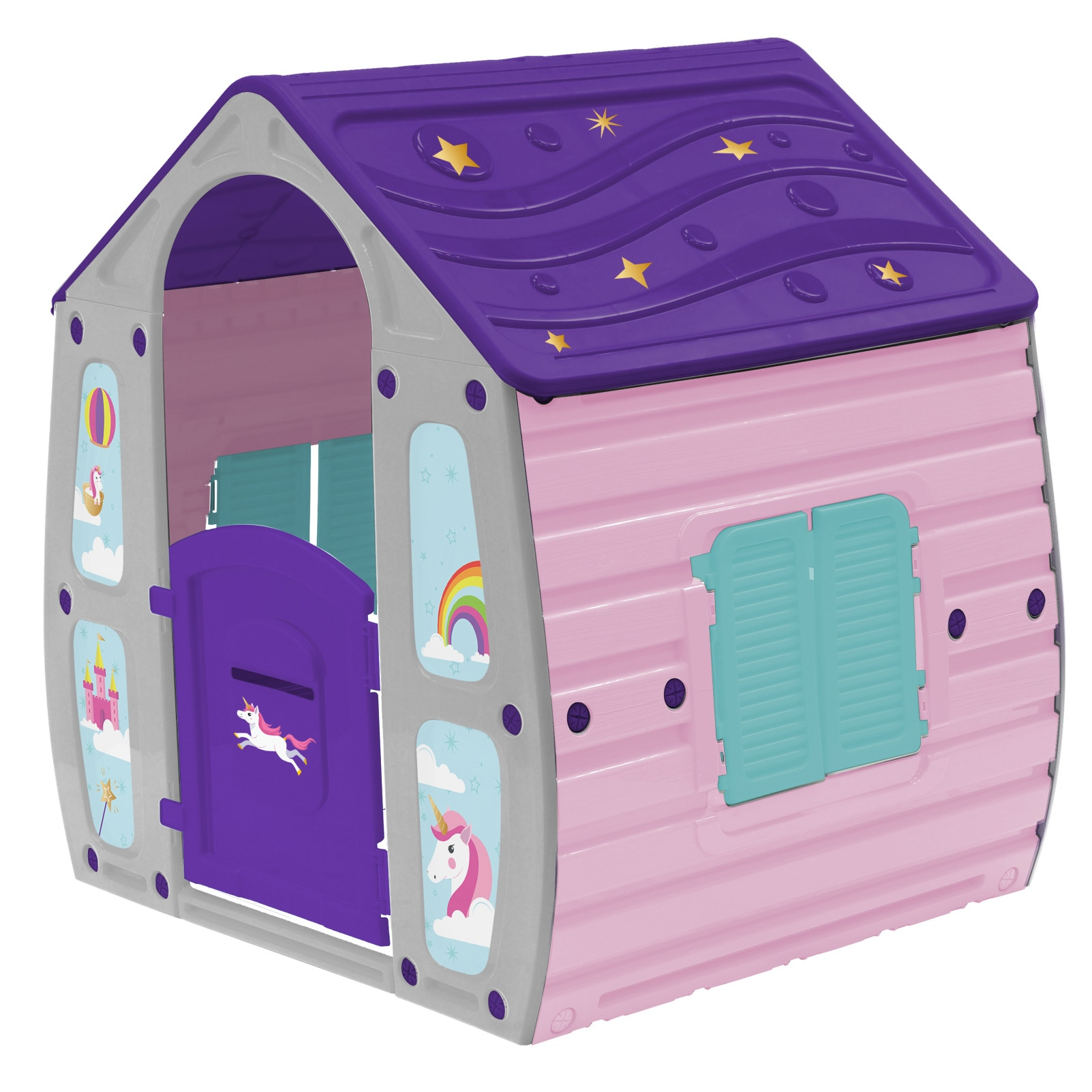 Fotografie Casuta de joaca pentru copii M-Toys Magic, roz / mov