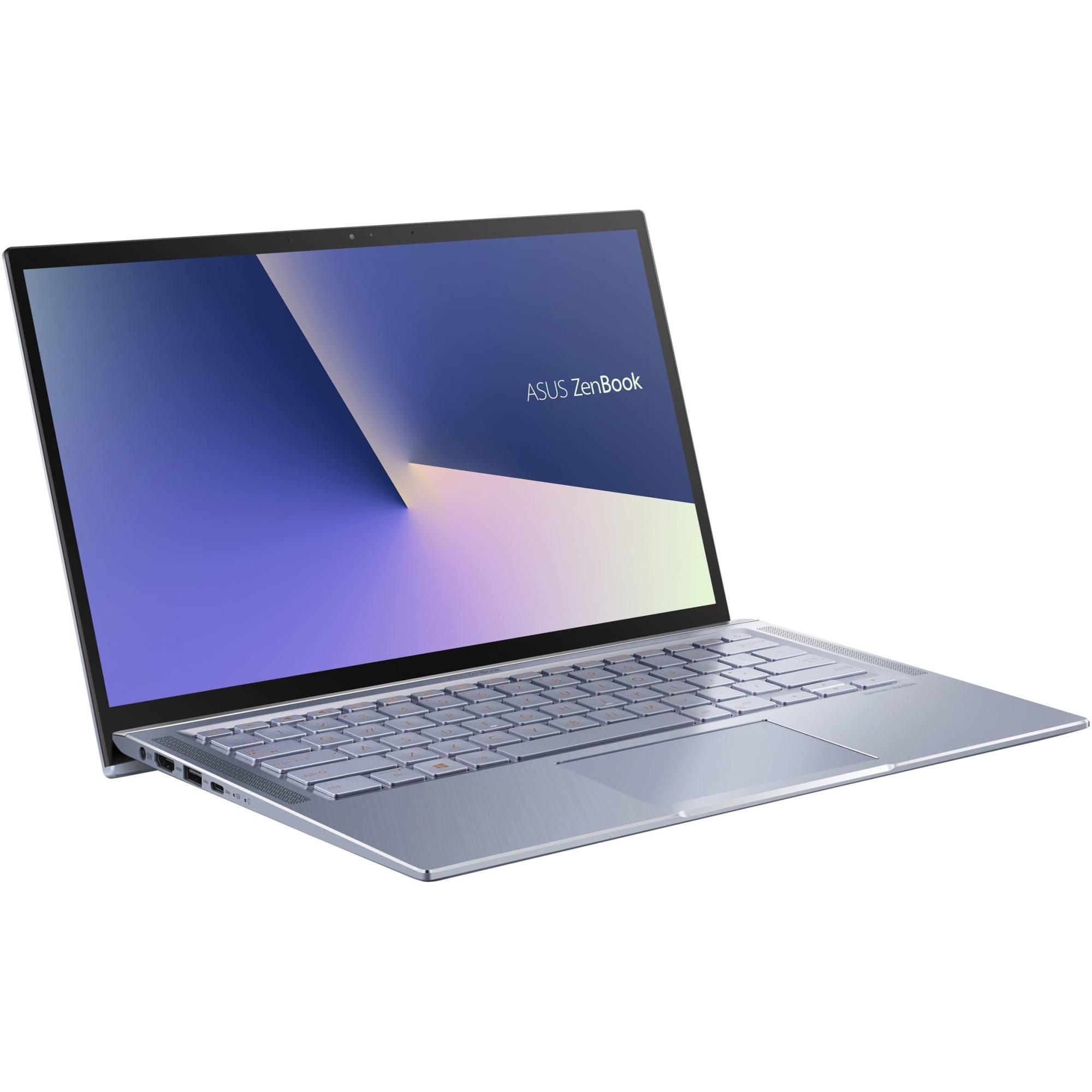 "Fotografie Laptop ultraportabil ASUS ZenBook 14 UM431DA cu procesor AMD Ryzen™ 7 3700U pana la 4.00 GHz, 14"", Full HD, 16GB, 1TB SSD, Radeon™ RX Vega 10, Endless OS, Utopia Blue Metal"