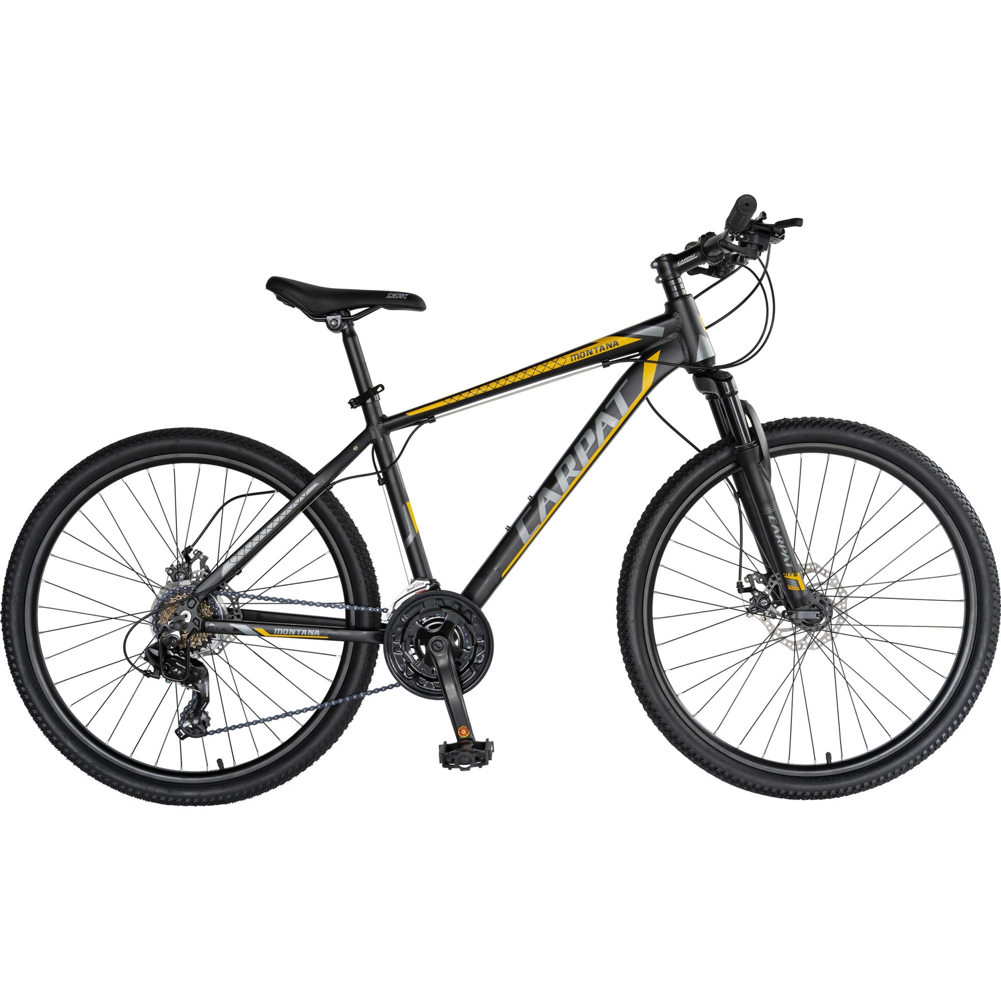 "Fotografie Bicicleta MTB 26"" Carpat C2670C, Negru/Galben"