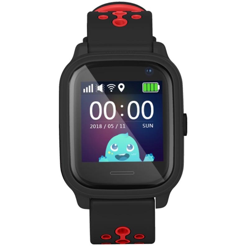Fotografie Ceas inteligent cu GPS pentru copii Wonlex™ KT04, functie telefon, GPS, rezistent la apa, SIM prepay cadou, Negru
