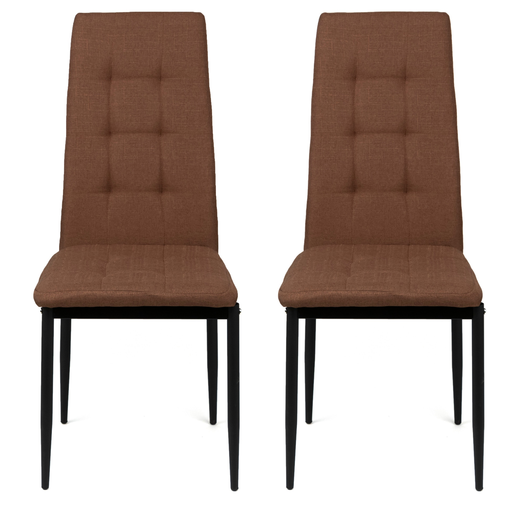 Fotografie Set 2 scaune bucatarie Kring Dublin, material textil, Maro deschis