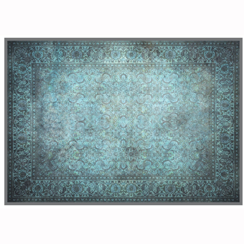 Fotografie Covor cu print digital Kring Jaipur, 160x230 cm, 100% bumbac, Albastru