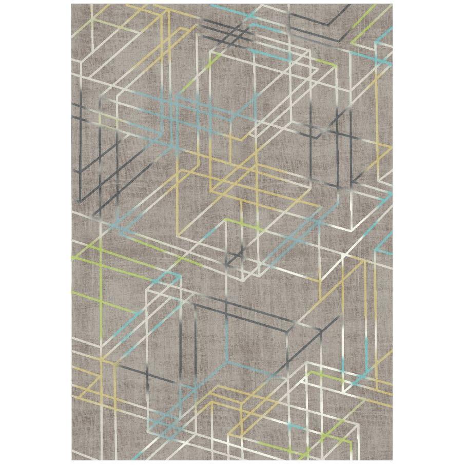 Fotografie Covor cu print digital Kring Linear, 140x200 cm, 100% bumbac, Maro