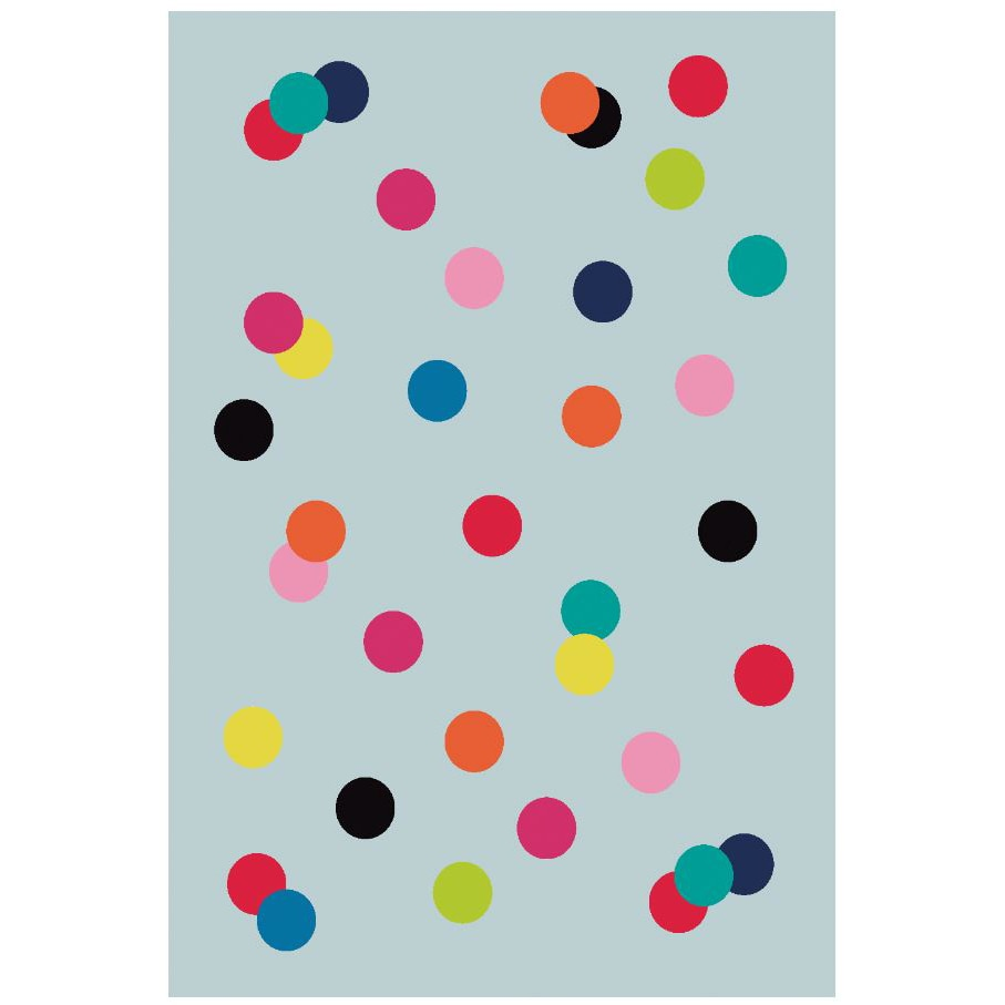 Fotografie Covor cu print digital Kring Puntos, 120x180 cm, 100% bumbac, Multicolor