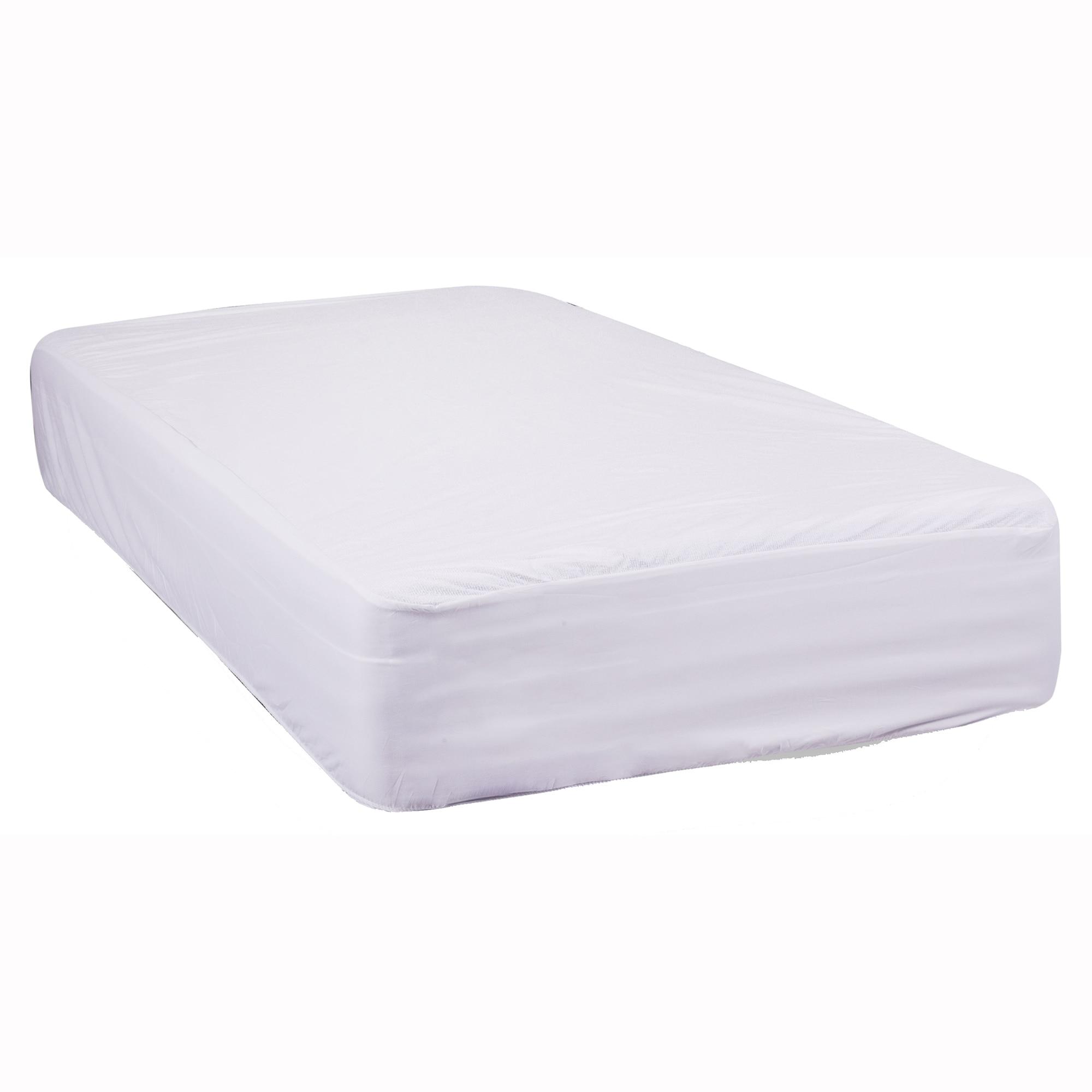 Fotografie Protectie saltea cu elastic Kring Gregal, impermeabila, 100% bumbac, cu baza de PVC, 140x200 cm