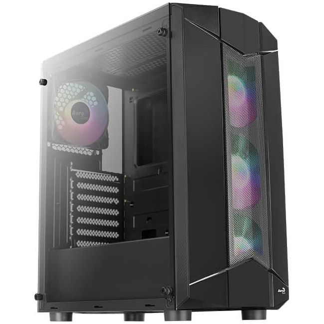 Fotografie Sistem Desktop PC Gaming Serioux cu procesor AMD Ryzen 5 1600 AF pana la 3.60GHz, 16GB DDR4, 1TB HDD + 250GB SSD PCIe, Radeon™ RX 5600 XT 6GB GDDR6