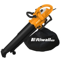 Riwall REBV 3000 Elektromos lombszívó/lombfúvó, 3000 W, 270 km/h, 45L gyűjtőzsák
