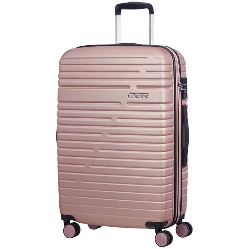 Fotografie Troller American Tourister Aero Race Spinner, Exp, Pink, 68x45x26 cm