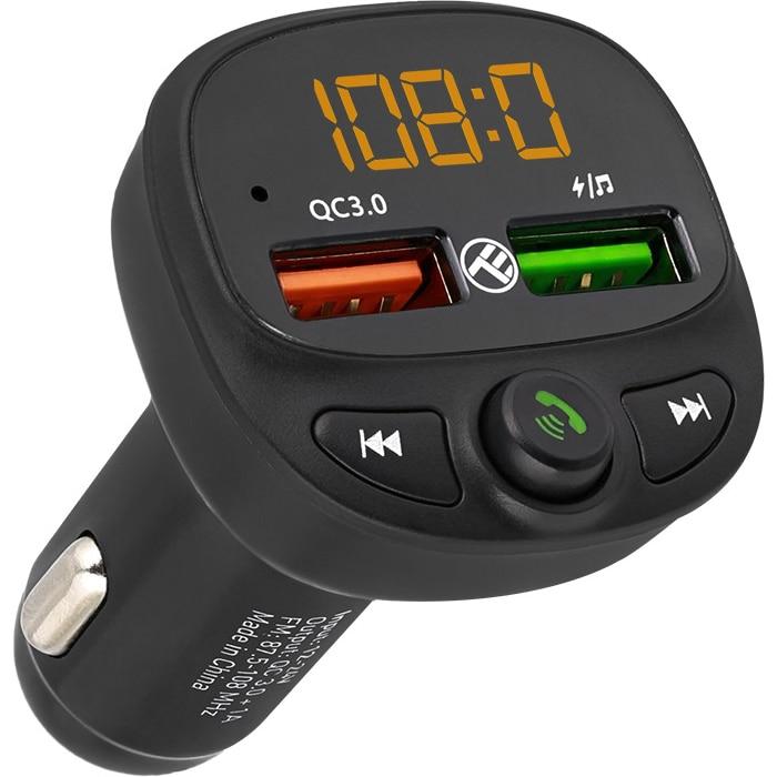 Fotografie Modulator FM Bluetooth Tellur FMT-B7, USB, microSD, QC 3.0, Negru