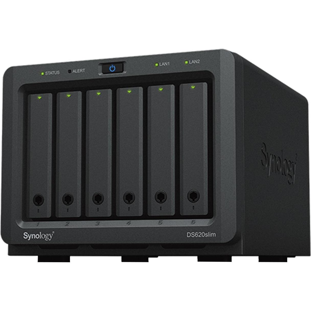 Fotografie Network Attached Storage Synology DiskStation DS620slim, Procesor Intel Celeron J3355, 2.5GHz, 2GB DDR3L ,6 bay