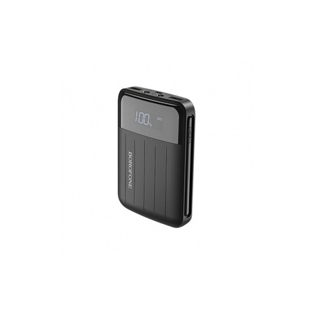 Baterie externa Borofone BT21, 10000 mAh, 2 porturi USB, afisaj LED, Black