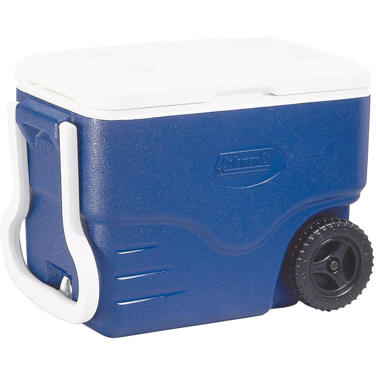 Fotografie Lada frigorifica pasiva Coleman Performance, 37.5 litri, cu roti, albastru