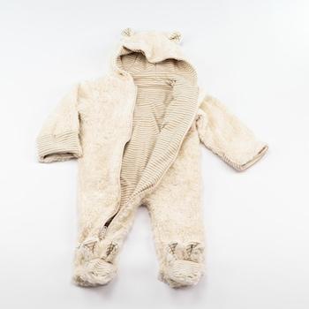 Бебешки гащеризон Lotties, Бял, 9-12 месеца