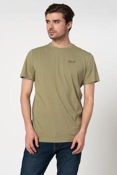 Jack Wolfskin, Essential póló logóval a mellrészen, Khaki