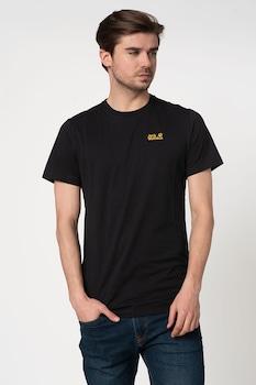Jack Wolfskin, Essential póló logóval a mellrészen, Fekete