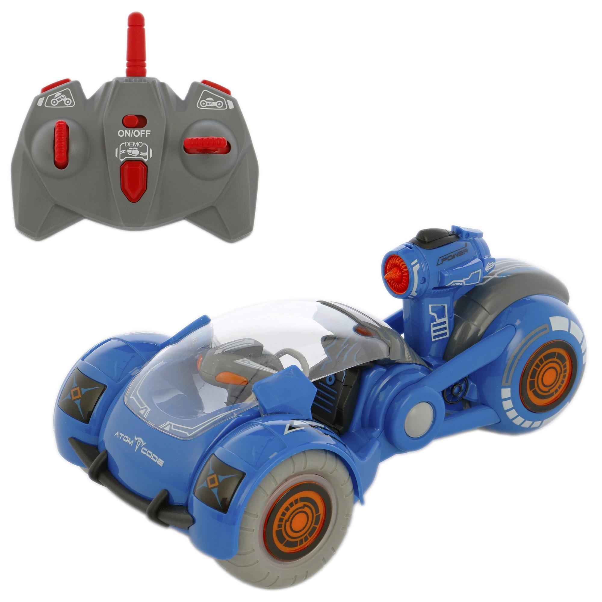 Fotografie Masinuta M-Toys Rotate, cu telecomanda, scara 1:12, albastru