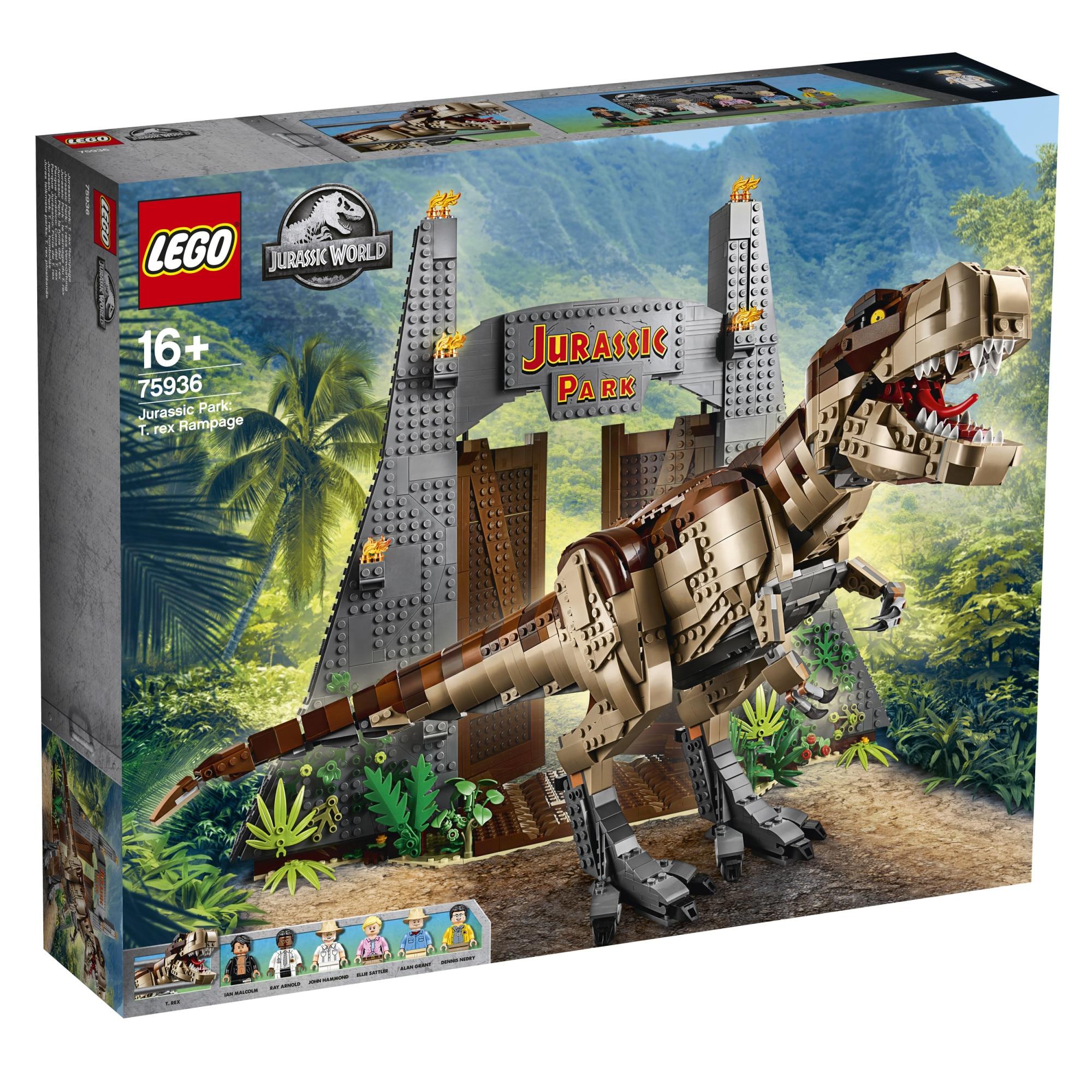 Fotografie LEGO Jurassic World - Jurassic Park: T. rex Rampage 75936, 3120 piese