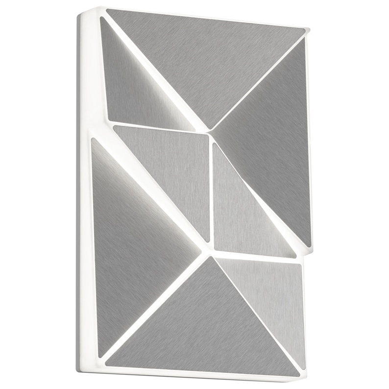 Fotografie Aplica LED integrat Trio Trinity, 10W, 800 lm, temperatura culoare ajustabila, IP20, plastic, Aluminiu mat