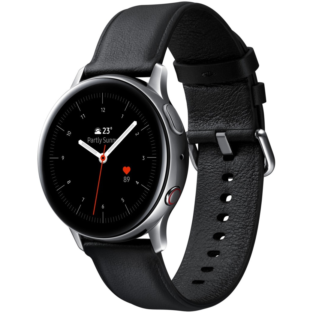 Fotografie Ceas Smartwatch Samsung Galaxy Watch Active 2, 40mm, 4G, Stainless Silver