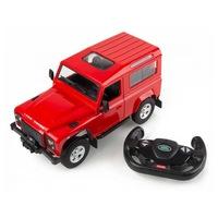 Land Rover Defender 1:24 17cm távirányítós modell autó Rastar 78500 RTR modellautó - piros