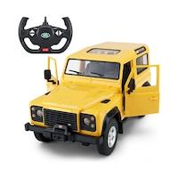 Land Rover Defender 1:14 29cm távirányítós modell autó Rastar 78400 RTR modellautó - sárga