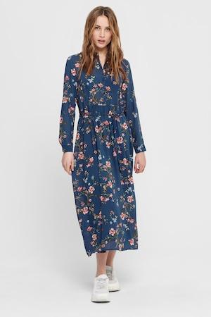 Only, Rochie midi cu imprimeu floral Claire, Albastru inchis/Maro/Albastru, 34