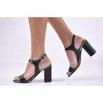 Дамски елегантни сандали и чехли eExclusive 500-9942, Черен, 38 EU