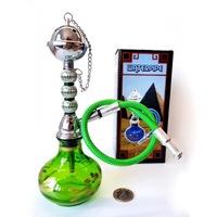Мини наргиле Eleon 0308502, 1 маркуч, 20см, единично наргиле в зелен цвят