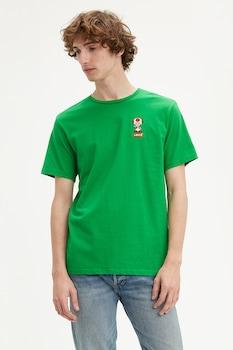 Levi's, Levi's® x Super Mario kerek nyakú póló, Élénkzöld